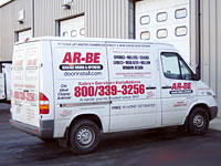 ar-be garage door service vehicle