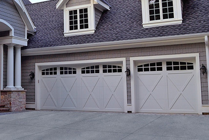 Carriage house overlay 5500 for Wood overlay garage doors