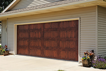Carriage house stamped 5983 for R value of wood garage door