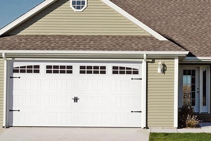 Carriage house stamped 5951 for Highest r value garage door
